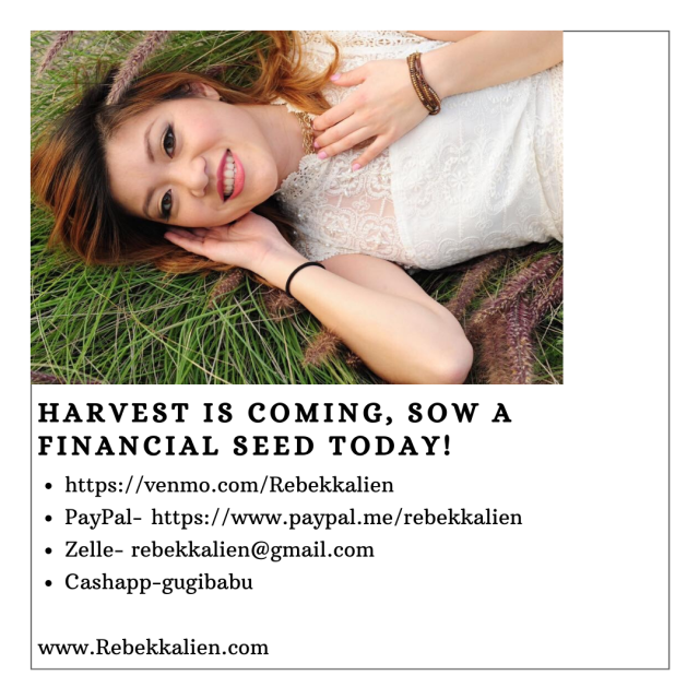 Harvest is coming, sow a financial seed today!
